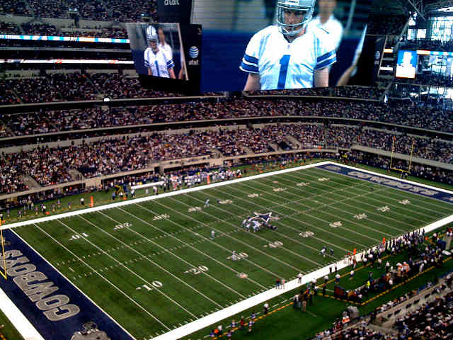 what is the mezzanine level at cowboys stadium american hwy