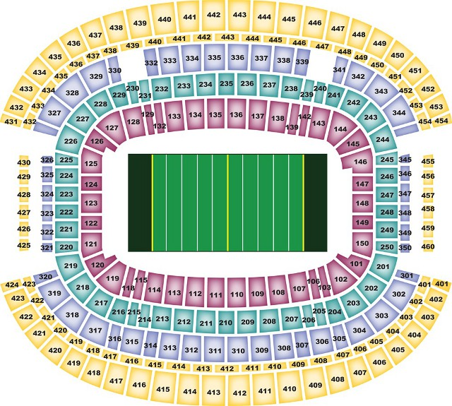 Dallas Cowboys Seating Chart for Cowboys Stadium